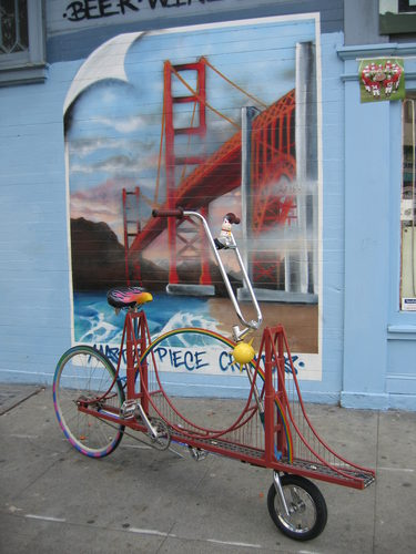 Golden Gate Bike with Mural