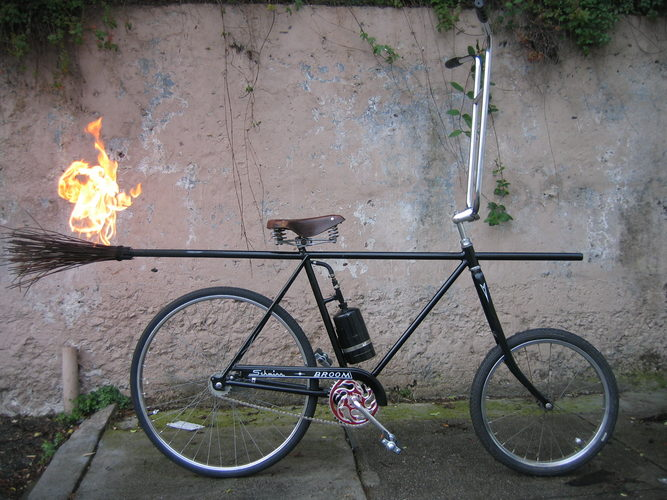 Broom Bike with Fire