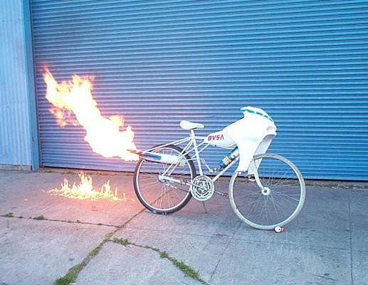 Rocket Bike Fire