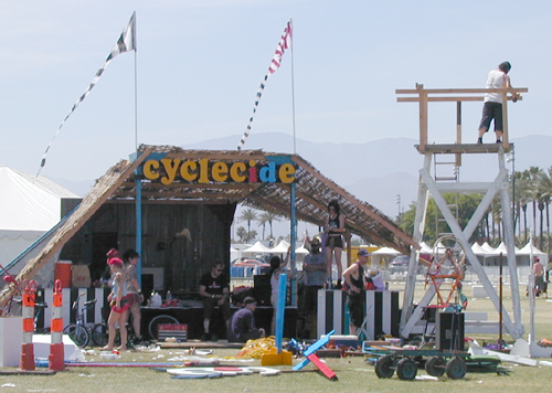 The Cyclecide Stage and Tiki Shack at Coachella 2006