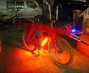 Chinese Dragon Bike at night by Jay