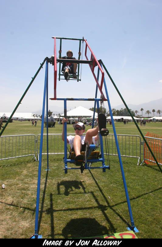 2 seat Ferris Wheel at Coahella by Jon Alloway