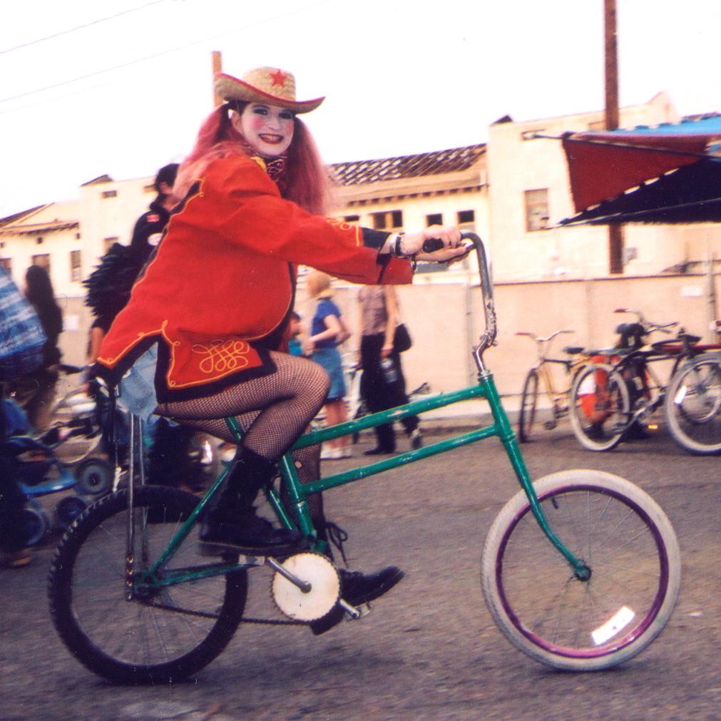 August Wood on the Swing Bike