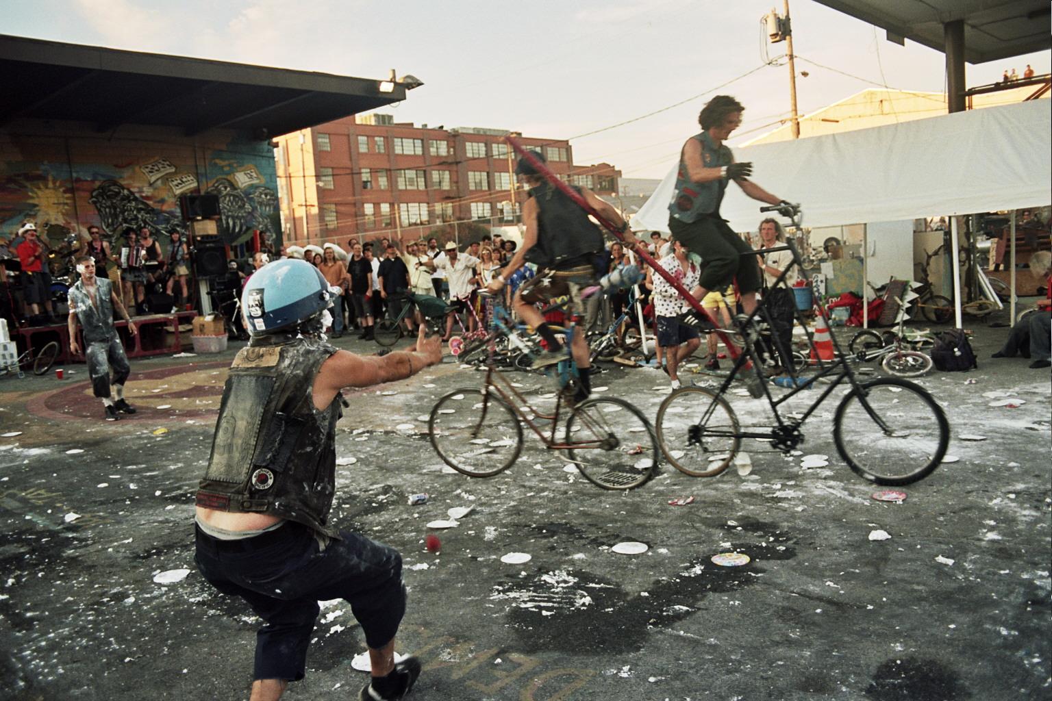 Tall Bike Jousting by Angela Scrivani