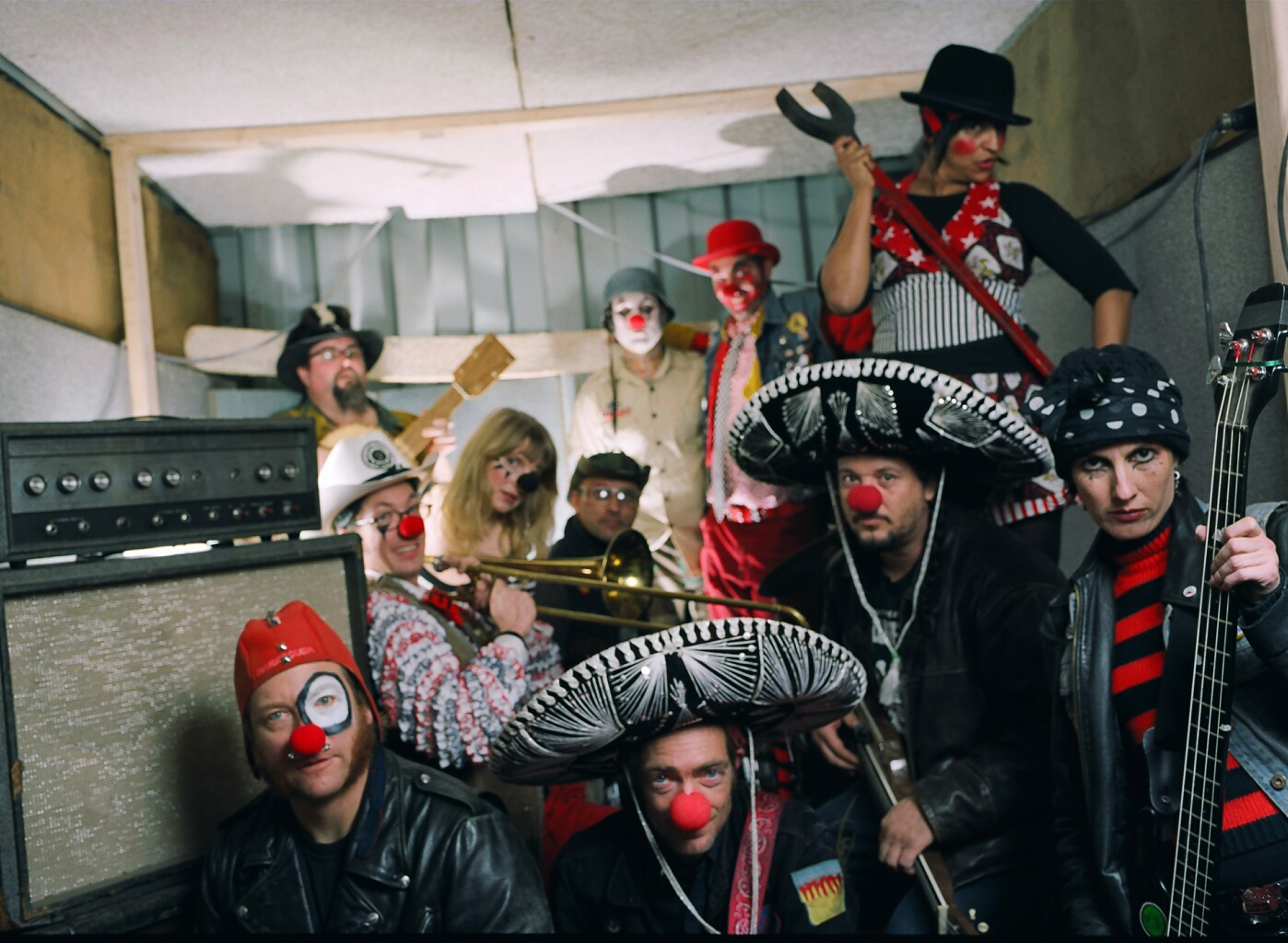 Clowns in the Band Room by Angela Scrivani